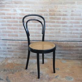 Vintage thonet  stijl stoel zwart