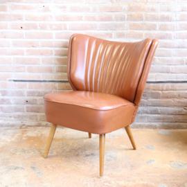 Vintage cocktail fauteuil cognac