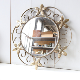 Vintage spiegel messing goud