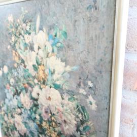 Vintage lijst met bloemen