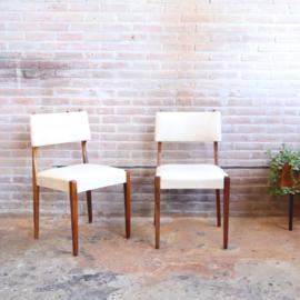 Vintage stoel wit skai set 2