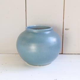 Vintage vaas blauw keramiek