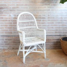 Vintage rotan stoel wit