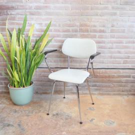 Vintage eettafel stoel grijs skai
