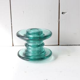 Vintage glazen klos kandelaar