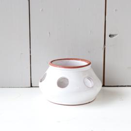 Vintage pot gaten / waxinelichthouder