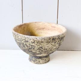 Vintage grote bloempot berkenbast