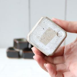 Vintage eierdopjes aardewerk