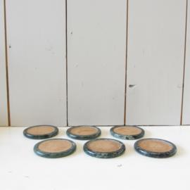 onderzetters groen marmer
