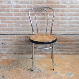 Vintage ''thonet stijl'' stoel rvs