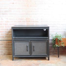 Vintage rotan tv meubel dressoir