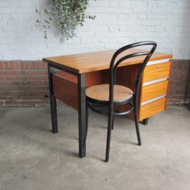 Vintage bureau zwart teak
