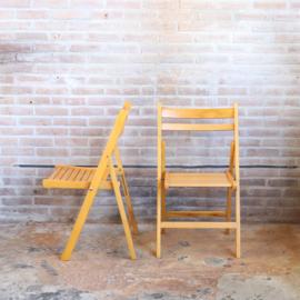 Vintage houten klapstoelen