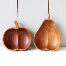 vintage hout schaaltjes appel peer
