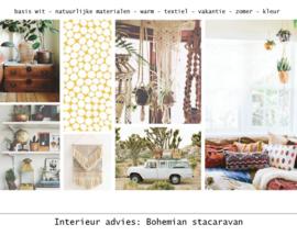 Interieur styling: zomerhuis stacaravan bohemian