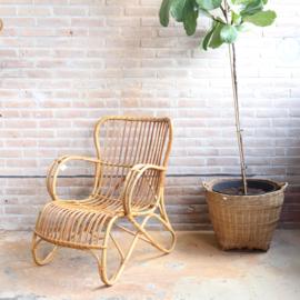 Vintage rotan fauteuil