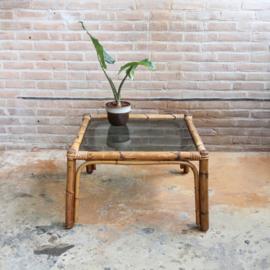 Vintage rotan salontafel vierkant