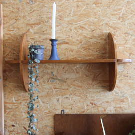 Vintage wandplank hout rond