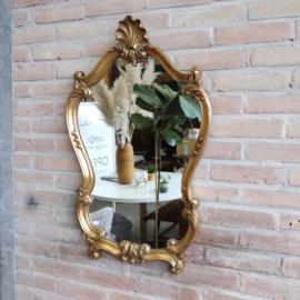 Vintage spiegel goud kleur groot