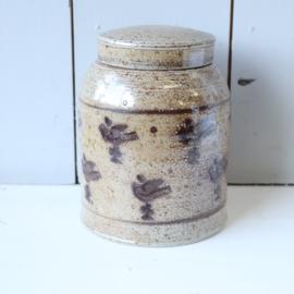 Vintage voorraadpot aarderwerk