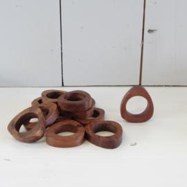 vintage teak servet ringen 12