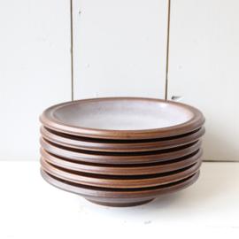 set 6 vintage borden diep jaren 70