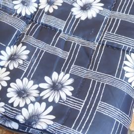 Vintage slaapzak bloemen blauw