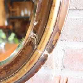 Vintage spiegel oud ovaal