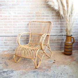 Vintage rotan fauteuil Rohe