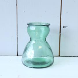 Vintage vaasje glas groen
