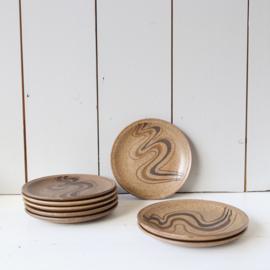 Vintage bordjes aardewerk