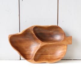 Vintage houten schaal blad