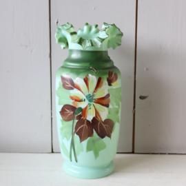 Vintage vaas bloemen glas