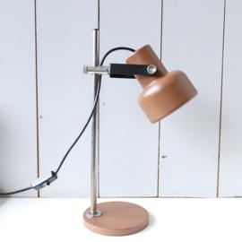 Vintage bureaulampje bruin