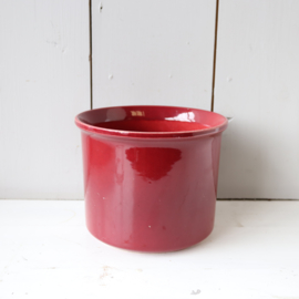 vintage bloempot donker rood