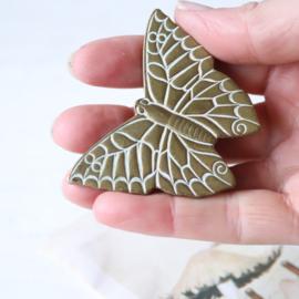 Messing vlinder clip