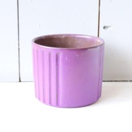 Vintage bloempot paars