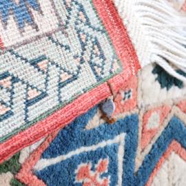 Vintage tapijt pastel  130 x 96