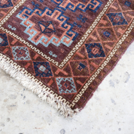 Vintage vloerkleed 100 x 75 'deurmat''