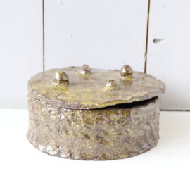 Vintage handgemaakte schaal deksel