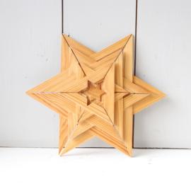 vintage houten ster
