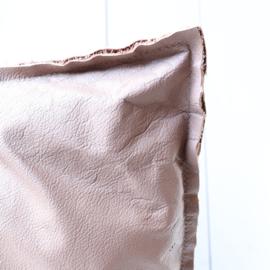 Kussen oud roze leer