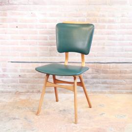 Vintage eettafel stoel groen