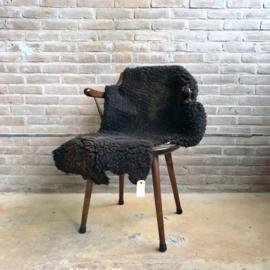 vintage schapenvacht bruin