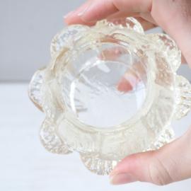 Deens waxinelichthouder glas klein