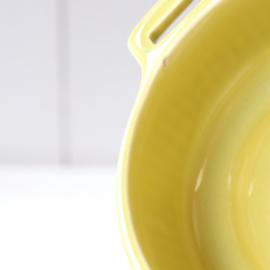 Vintage soepkom groen geel