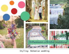 Styling: Kleurrijke vintage boho bruiloft
