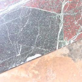 Vintage salontafel marmer steen zwart metaal