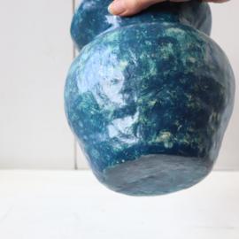 Grote vaas blauw handgemaakt