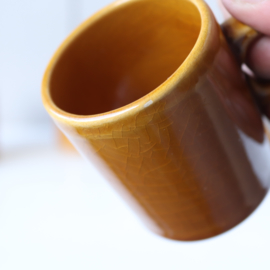 Vintage espresso kopjes jaren 70 oker